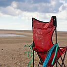 Chair with a seaview, Bannow bay, County Wexford, Ireland by Andrew Jones
