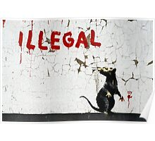 Fitzrovia Rat by Banksy Poster