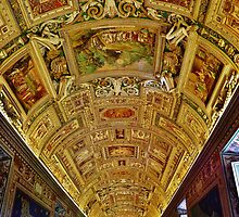Vatican Map Room Ceiling by Stephen Burke