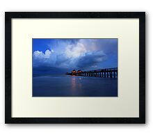 dawn at the pier Framed Print