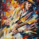 STEVIE RAY VAUGHAN  - original oil painting on canvas by Leonid Afremov by Leonid  Afremov