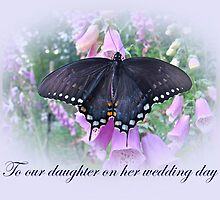 To Daughter on Her Wedding Day Card by MotherNature