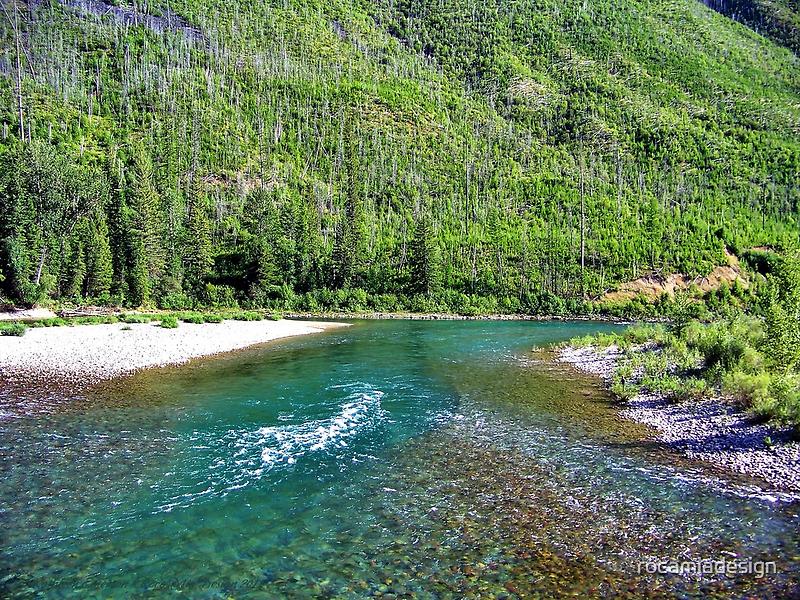 Fishing Paradise (Glacier National Park, Montana, USA) by rocamiadesign