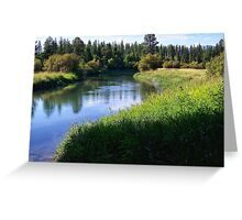 Whitefish River (Whitefish, Montana, USA) Greeting Card