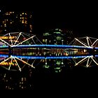 Footbridge over the Yarra - Melbourne by jonxiv