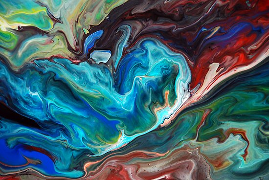 Colourful Abstract Fluid Painting by markchadwick