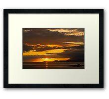 Sunset, Point of Sleat, Isle of Skye, Inner Hebrides, Scotland, Framed Print