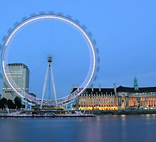 London Eye at Dusk by Kasia Nowak