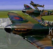 HORNCHURCH SPITFIRES DOVER SORTIE by PAUL57
