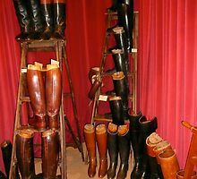 Hermes Boots - The Living Horse Museum, Chantilly, France by Jenny Hambleton