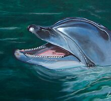 Bottle Nosed Smiling Dolphin. by PAUL57