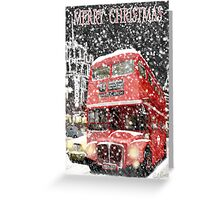 Christmas Routemaster bus. Greeting Card