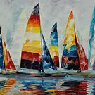 ROYAL REGATTA - LEONID AFREMOV by Leonid  Afremov