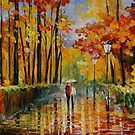 AUTUMN RAIN - LEONID AFREMOV by Leonid  Afremov