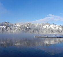 Winter on Twin Lakes Idaho by BreezyG