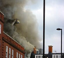 A Fire in Brixton by Orla Cahill Photography