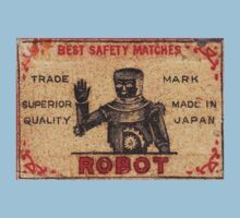 Vintage Robot Match Box by David Naughton-Shires