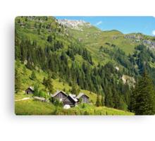 Alpine Cottages in Zederhaus, Austria Canvas Print