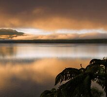 Mystical Mt Tarawera (pano) by Michael Treloar