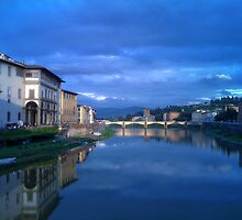 Arno River - Firenze by L. J. Carter