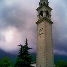 Clock Tower - Dolomites, Italy by L. J. Carter