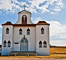 First English Lutheran Church, Bainville Montana, USA by Bryan D. Spellman