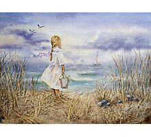 Girl and the Ocean Photographic Print