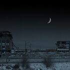 Night Falls For The Last Time On Cleveland Stadium by Kenneth Krolikowski