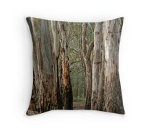 Red gums, beside the Murray River near Robinvale Throw Pillow