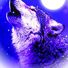 Wolf Howling at Moon  by madeinatlantis