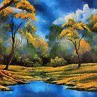 Autumn meadow by ellenspaintings