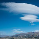 Lenticular Cloud from Mt Iron, NZ by Neville Jones