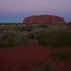 Sunset over Uluru by Linda Fury