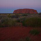 Sunset over Uluru by Linda Fury