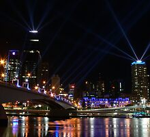 Brisbane laser show by PhotosByG