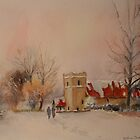 Saltwood church under snow by Beatrice Cloake