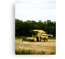 Old Yellow Combine 02 Canvas Print