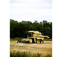 Old Yellow Combine 02 Photographic Print
