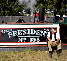 Traditional working narrowboat President by Jack Cox