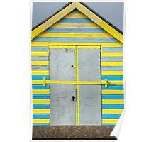 Colourful Beach Hut Poster