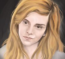 Digital painting -  Emma Watson by Pascal Gaggelli