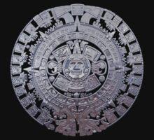 Modern Aztec Sun Stone by Packrat