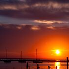 Sunset on the Bay by Scott  Hafer