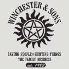 SUPERNATURAL WINCHESTER &amp; SONS t-sHIRT by thischarmingfan