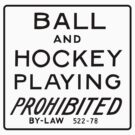 Ball and Hockey Playing Prohibited by torontowhere