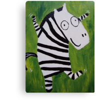 Zebra Dance 2 Canvas Print