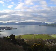 View of The River Clyde from battery park Greenock Inverclyde by shopinverclyde