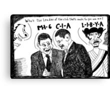 MI6 CIA LIBYA Canvas Print