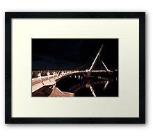 Peace Bridge over river Foyle, Derry Framed Print