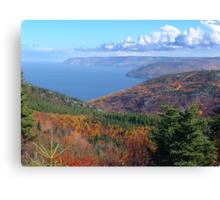 Cape Breton Island, McKenzie Mountain Canvas Print